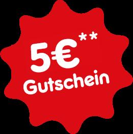 5€ Gutschein bei der Newsletteranmeldung
