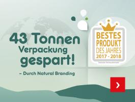43 Tonnen Verpackung gespart - Durch Smart Branding