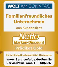 Wir haben das Prädikat Gold für Familienfreundliches Unternehmen erhalten