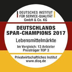 Wir sind Deutschlands Spar-Champion 2017