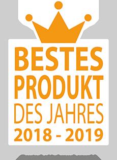 Wir wurden bei der Verbraucherumfrage als Bestes Produkt des Jahres 2018 – 2019 ausgezeichnet
