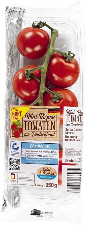 Markttag Mini Rispen Tomaten